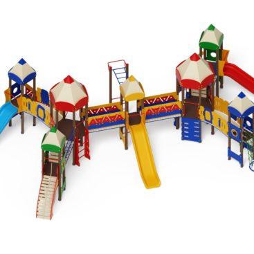 Детский игровой комплекс «Карандаши» ДИК 2.26.07 Н=1200 купить по оптимальной цене производителя СкифПро на aguna.pro с доставкой по России