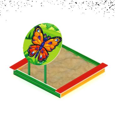 Песочница с навесом Забава-бабочка ИО 5.01.09