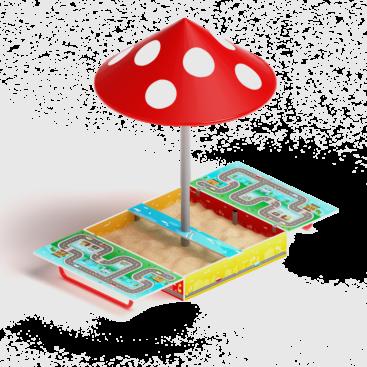 Песочница Игра с крышкой и с грибком ИО 5.01.10-02