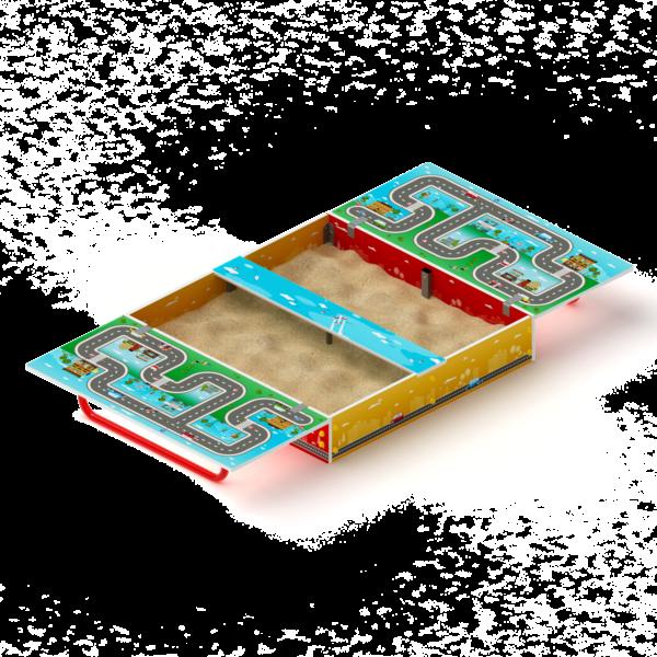 Песочница с крышкой Игра ИО 5.01.11-02