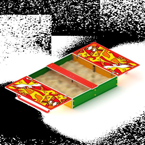 Песочница с крышкой ИО 5.01.11-04 купить по цене производителя СкифПро с доставкой на aguna.pro