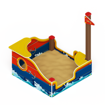 Песочница Кораблик мини ИО 5.03.01
