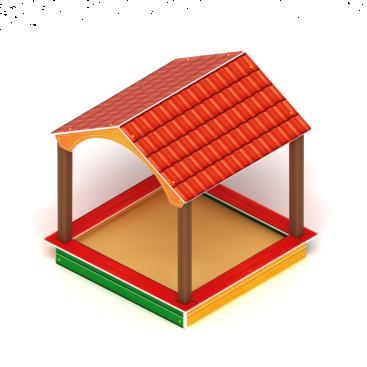 Песочный дворик домик ИО 6.01.02
