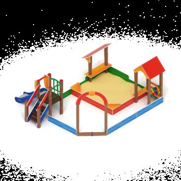 Песочный дворик с горкой ИО 6.01.05