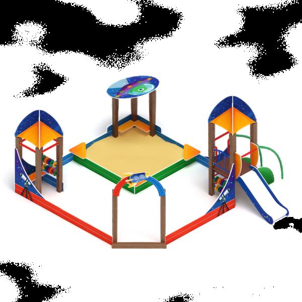 Песочный дворик Космопорт с горкой ИО 6.14.01