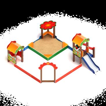 Песочный дворик Полянка с горкой ИО 6.16.01 купить по оптимальной цене производителя с доставкой по России